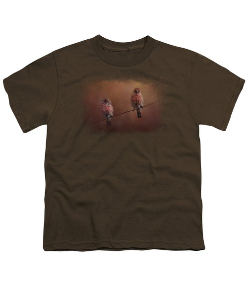 Pair Of Finches Youth T-Shirt by Jai Johnson