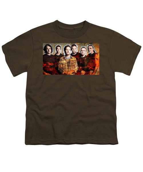 Youth T-Shirt featuring the mixed media Pearl Jam by Marvin Blaine