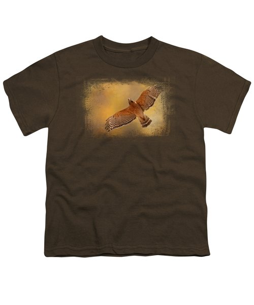 Raptor's Afternoon Flight Youth T-Shirt by Jai Johnson