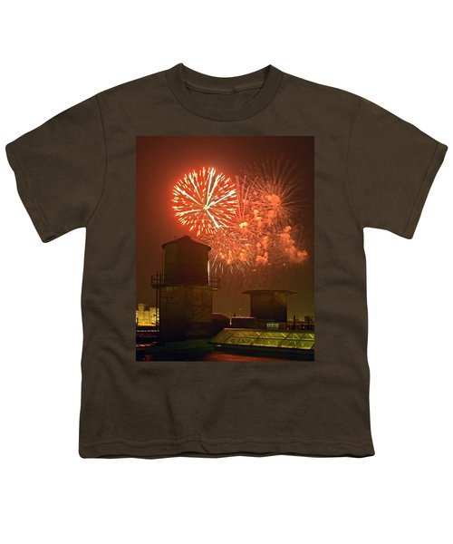 Red Fireworks Youth T-Shirt