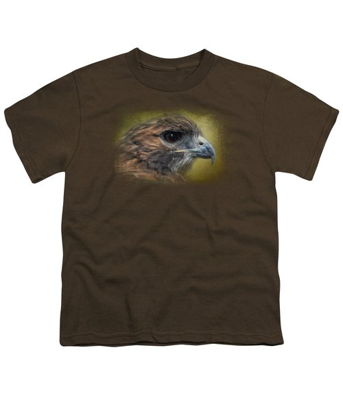Red Tailed Hawk At Reelfoot Youth T-Shirt by Jai Johnson