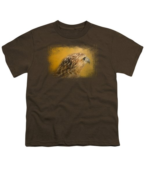 Red Tailed Hawk At Sunset Youth T-Shirt
