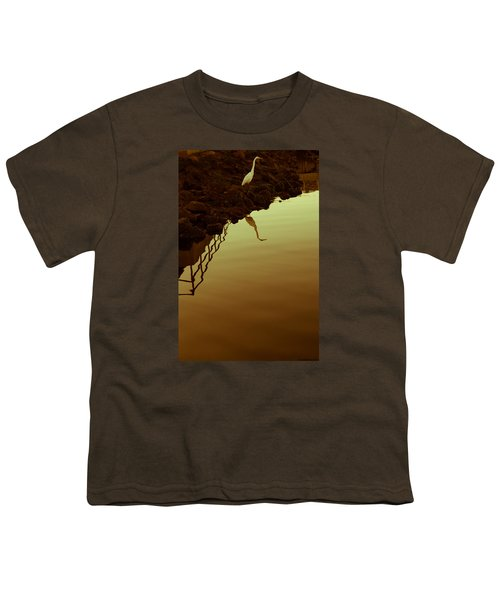 Youth T-Shirt featuring the photograph Elegant Bird by Lora Lee Chapman