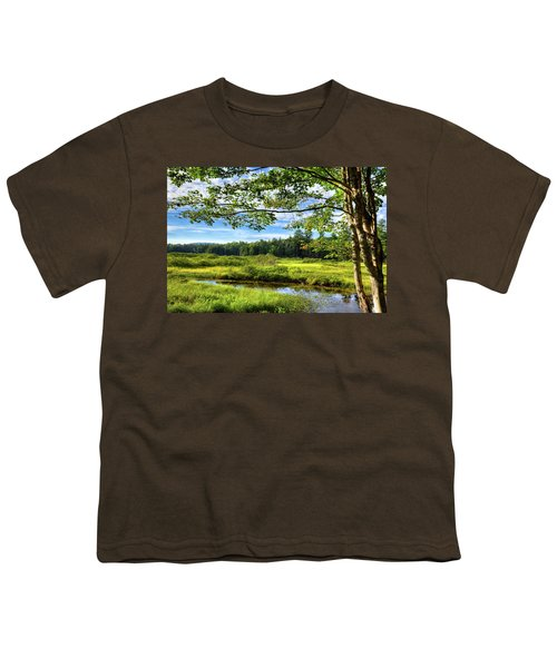 Youth T-Shirt featuring the photograph River Under The Maple Tree by David Patterson