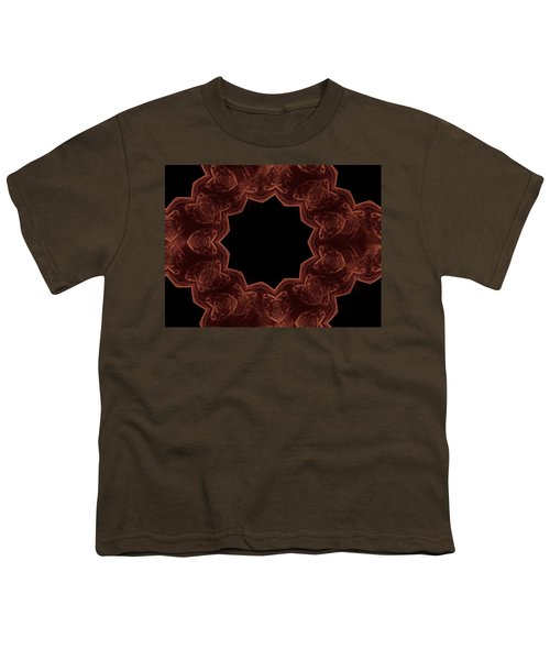Seamless Kaleidoscope Copper Youth T-Shirt