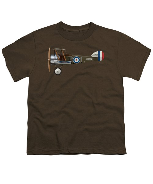 Sopwith Camel - B3889 - Side Profile View Youth T-Shirt by Ed Jackson