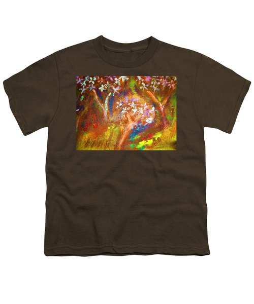 Youth T-Shirt featuring the painting Spring Blossom by Winsome Gunning