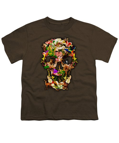 Sugar Skull Animal Kingdom Youth T-Shirt by Three Second