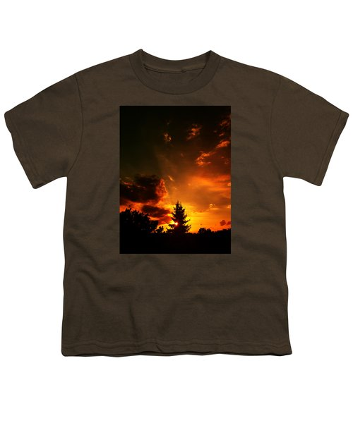 Sunset Madness Youth T-Shirt by Flavien Gillet