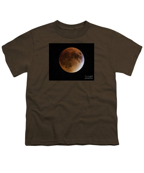 Youth T-Shirt featuring the photograph Super Blood Moon Lunar Eclipses by Ricky L Jones