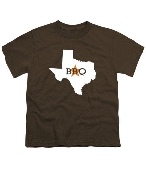 Texas Bbq Youth T-Shirt by Nancy Ingersoll