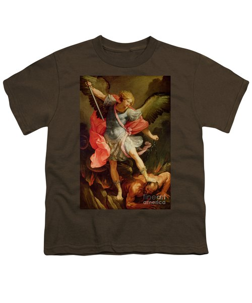 The Archangel Michael Defeating Satan Youth T-Shirt