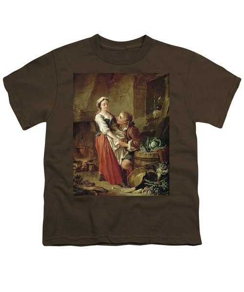 The Beautiful Kitchen Maid Youth T-Shirt by Francois Boucher
