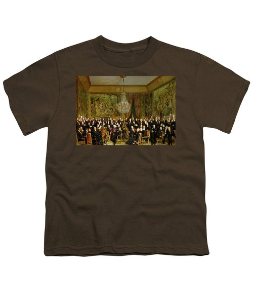 The Salon Of Alfred Emilien At The Louvre Youth T-Shirt by Francois Auguste Biard