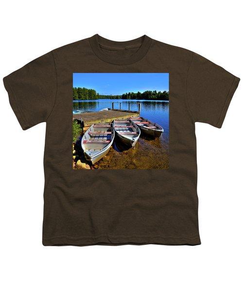 Three Rowboats Youth T-Shirt by David Patterson