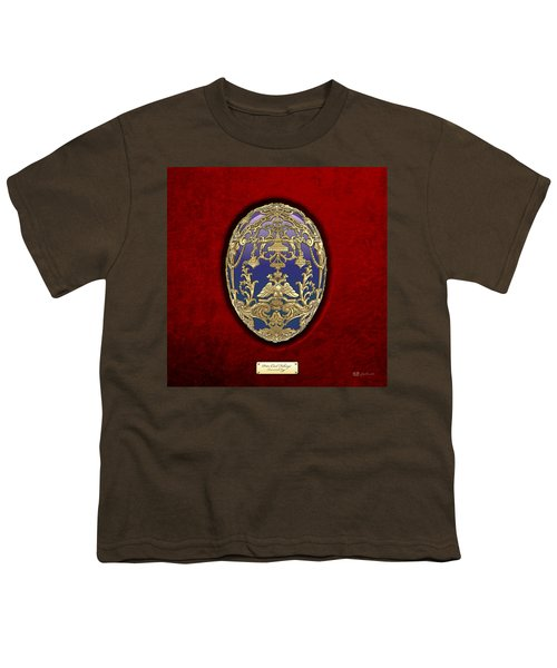 Tsarevich Faberge Egg On Red Velvet Youth T-Shirt