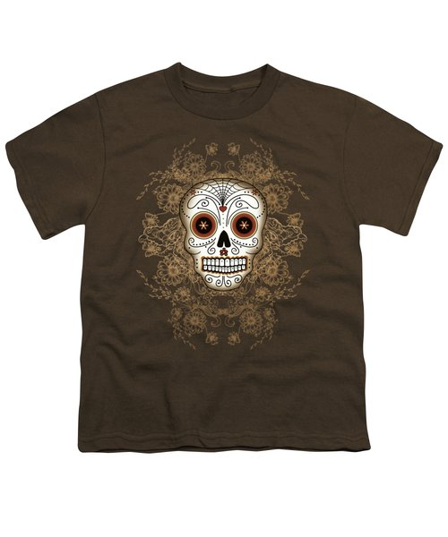 Vintage Sugar Skull Youth T-Shirt