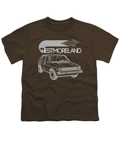 Vw Rabbit - Westmoreland Theme - Gray Youth T-Shirt by Ed Jackson