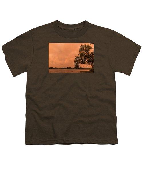Strange Orange Sunrise With Rainbow Youth T-Shirt by Gary Eason