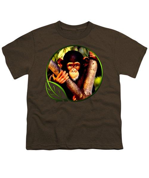 Young Chimpanzee Youth T-Shirt by Dan Pagisun