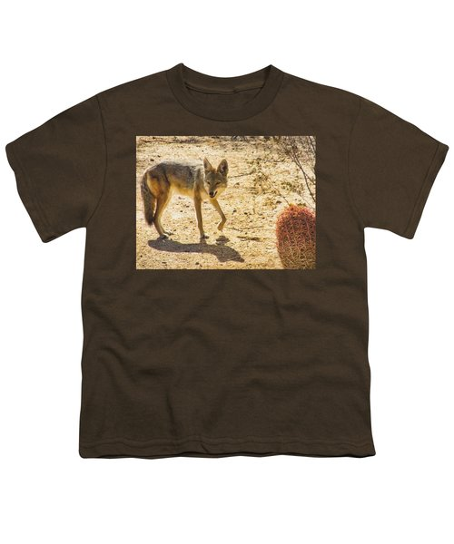 Young Coyote And Cactus Youth T-Shirt