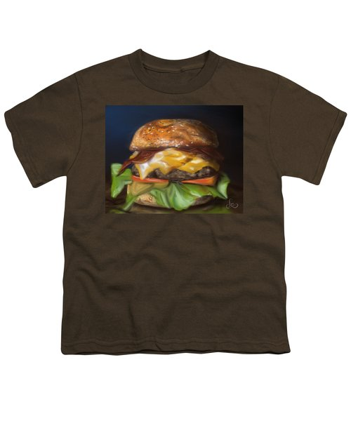 Youth T-Shirt featuring the pastel Renaissance Burger  by Fe Jones
