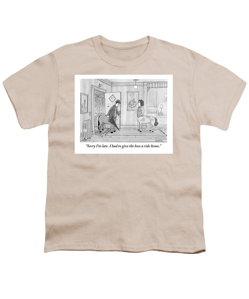 A Male Centaur Youth T-Shirt by Jason Patterson