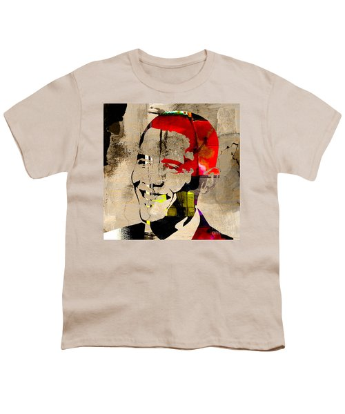Youth T-Shirt featuring the photograph Barack Obama by Marvin Blaine