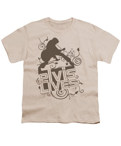 Elvis - Elvis Lives Youth T-Shirt by Brand A