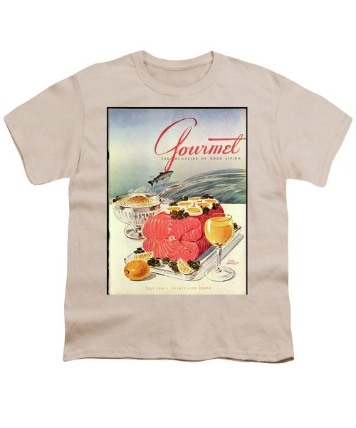 A Gourmet Cover Of Poached Salmon Youth T-Shirt