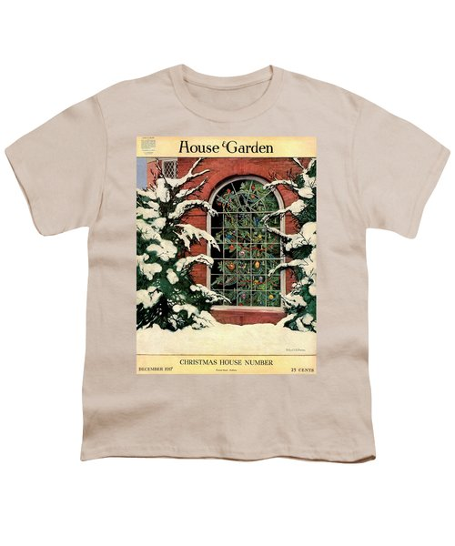 A House And Garden Cover Of A Christmas Tree Youth T-Shirt