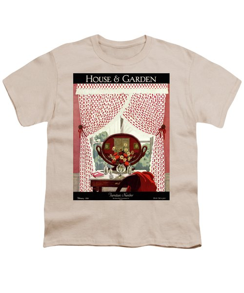 A House And Garden Cover Of A Mirror Youth T-Shirt