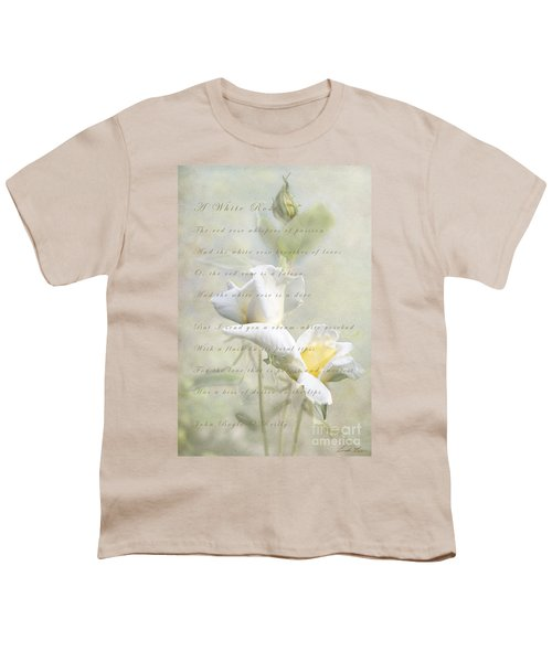 A White Rose Youth T-Shirt by Linda Lees