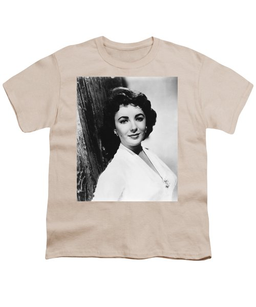 Actress Elizabeth Taylor Youth T-Shirt by Underwood Archives