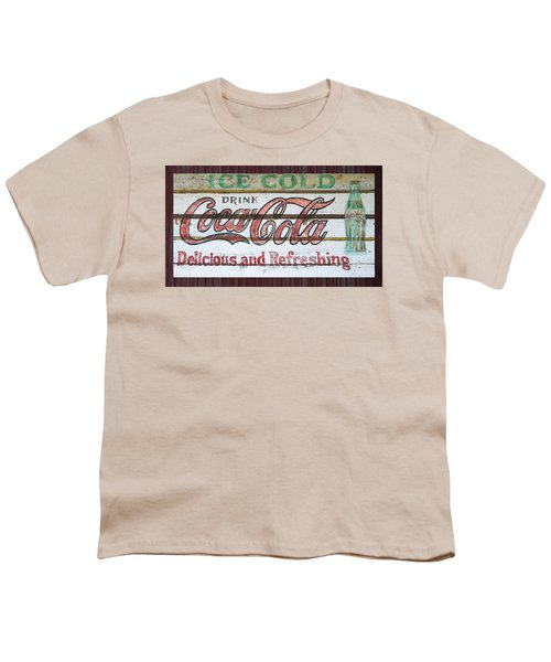 Antique Coca Cola Sign  Youth T-Shirt