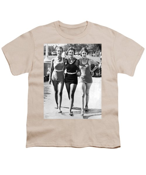 Army Bathing Suit Trio Youth T-Shirt by Underwood Archives