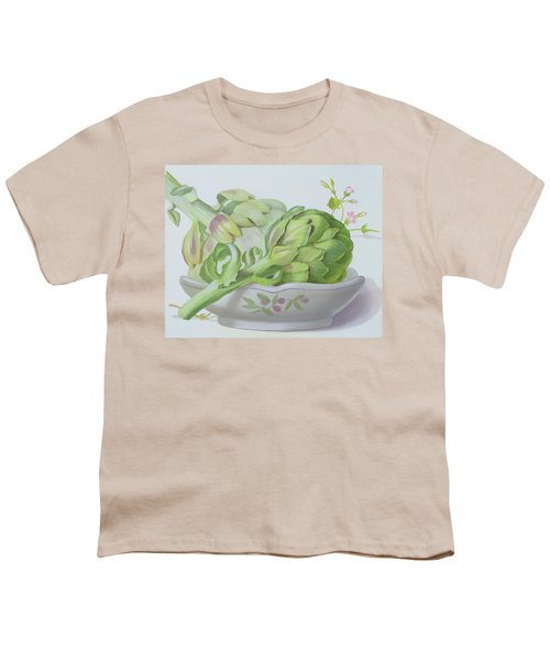 Artichokes Youth T-Shirt by Lizzie Riches