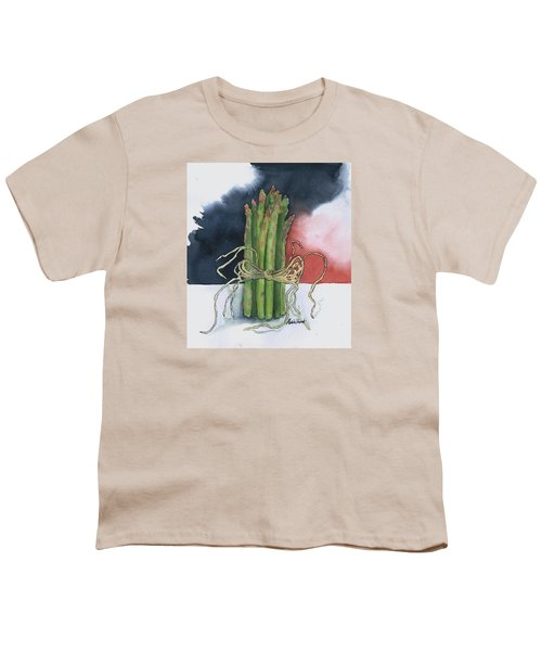 Asparagus In Raffia Youth T-Shirt by Maria Hunt