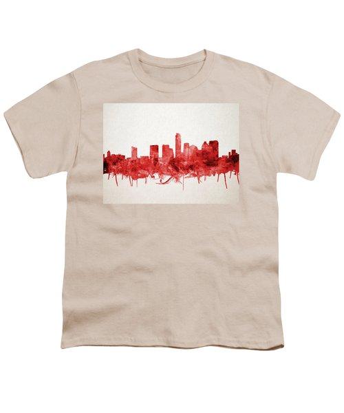 Austin Texas Skyline Watercolor 4 Youth T-Shirt