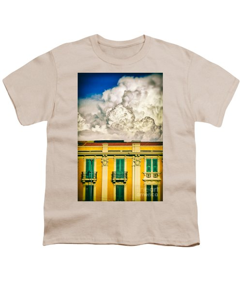 Youth T-Shirt featuring the photograph Big Cloud Over City Building by Silvia Ganora