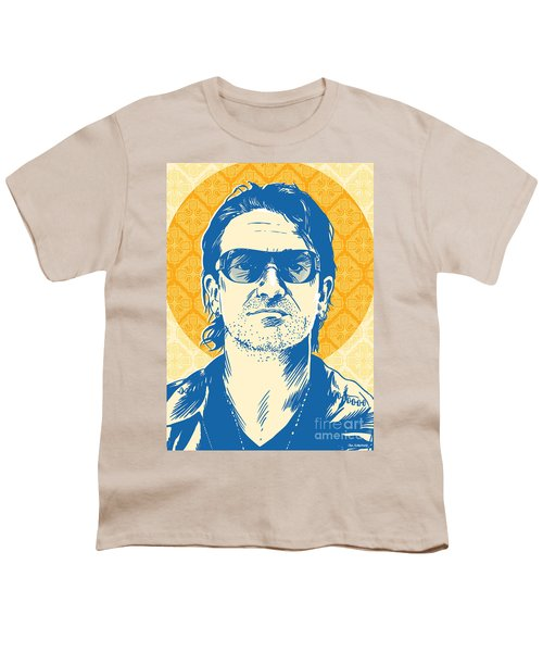 Bono Pop Art Youth T-Shirt by Jim Zahniser
