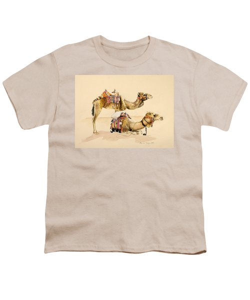 Camels From Petra Youth T-Shirt