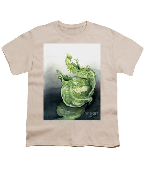 Cauliflower In Reflection Youth T-Shirt by Maria Hunt