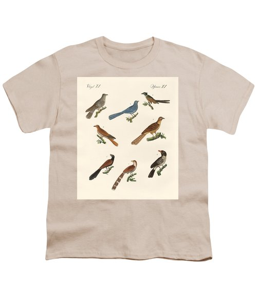Cuckoos From Various Countries Youth T-Shirt by Splendid Art Prints