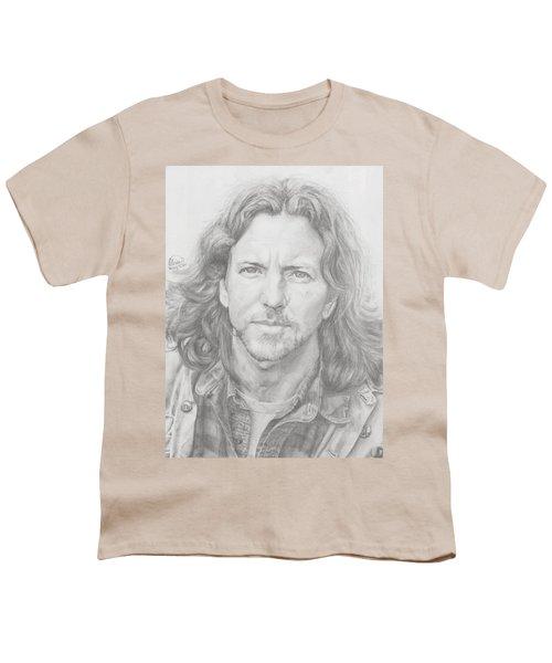 Eddie Vedder Youth T-Shirt by Olivia Schiermeyer