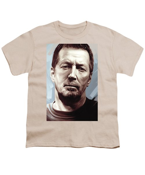 Eric Clapton Artwork Youth T-Shirt by Sheraz A