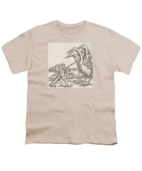 Fight Between Pygmies And Cranes. A Story From Greek Mythology Youth T-Shirt