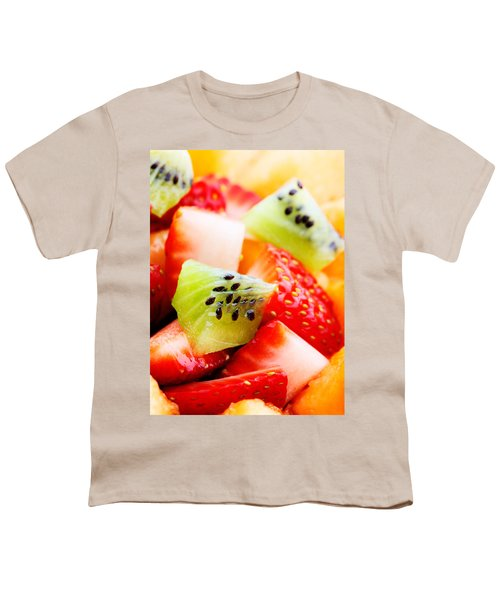 Fruit Salad Macro Youth T-Shirt by Johan Swanepoel