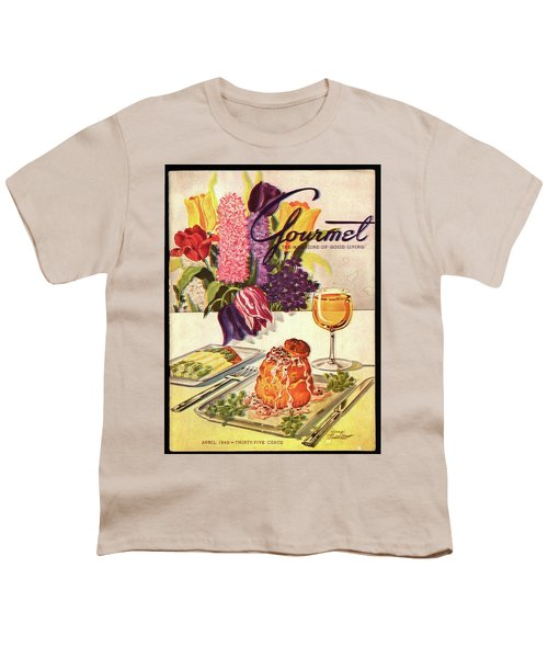 Gourmet Cover Featuring Sweetbread And Asparagus Youth T-Shirt