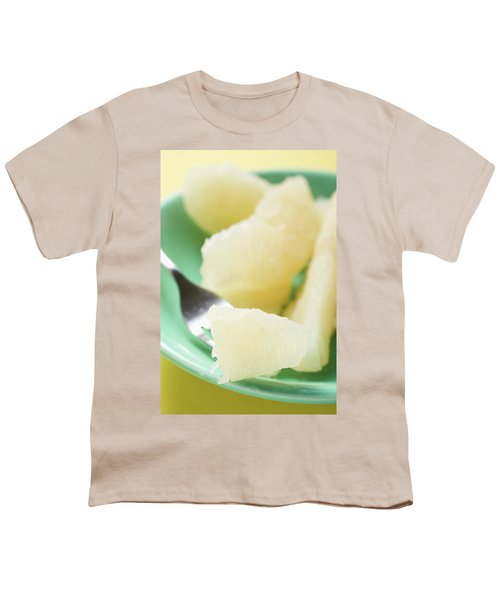 Grapefruit Segments On Plate And Fork Youth T-Shirt